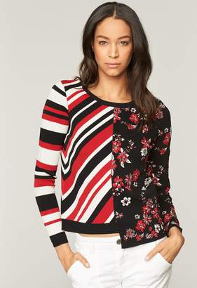 MillyMilly Twilight Floral Stripe Pullover