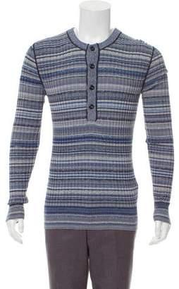 Dolce & Gabbana Striped Henley Sweater w/ Tags