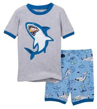 Petit Lem Shark Shorts Pajama Set (Baby Boys)