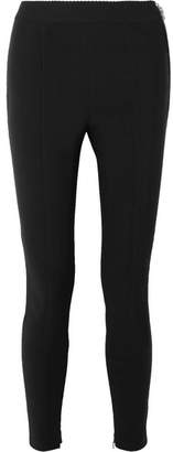Stretch-crepe Leggings - Black