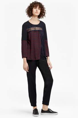 Isabella Collection Fcus Light Striped Crepe Top