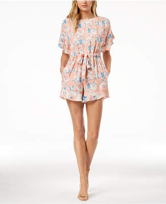 French Connection Printed Open-Back Romper