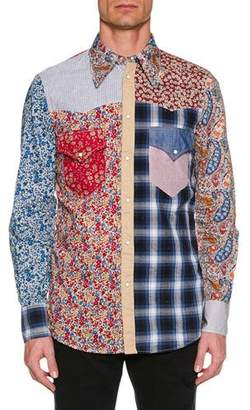 DSQUARED2 Men's Flower-Printed Western Shirt