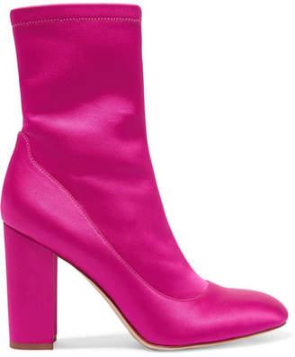Sam Edelman - Calexa Stretch-satin Sock Boots - Fuchsia