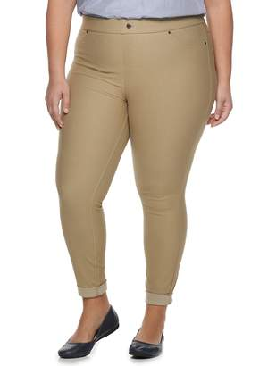 Utopia By Hue Plus Size Utopia by HUE Twill Cuffed Capri Leggings