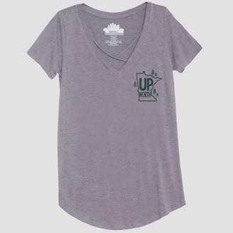 Awake Women's Short Sleeve Up North Graphic T-Shirt Heather Gray