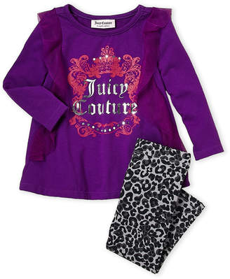 Juicy Couture Infant Girls) Two-Piece Ruffled Top & Legging Set
