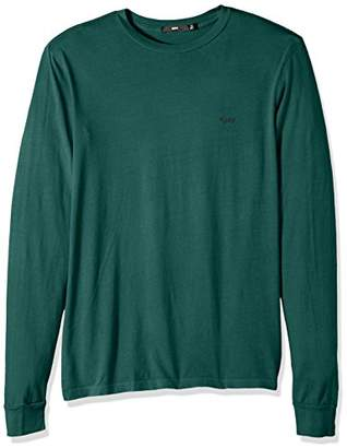 Obey Men's Jumble Pigment Regular Fit Knitted Long Sleeve Tee