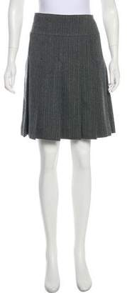 Marc by Marc Jacobs Pleated Wool Knee-Length Skirt