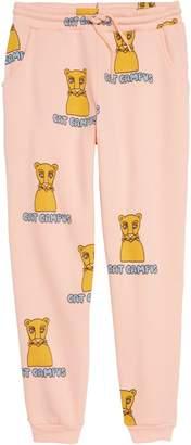 Mini Rodini Cat Campus Organic Cotton Sweatpants