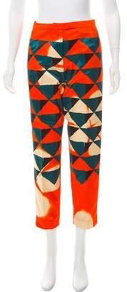 Dries Van Noten 2017 Pama Geometric Mid-Rise Pants w/ Tags