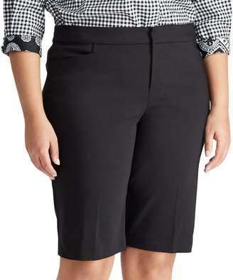 Chaps Plus Size Stretch Cotton-Blend Short