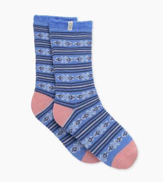 UGG Fair Isle Fleece Lined Sock