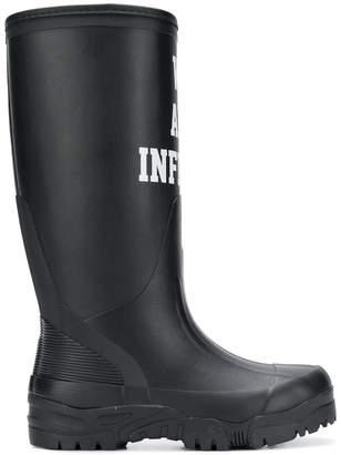 Undercover slogan waterproof boots