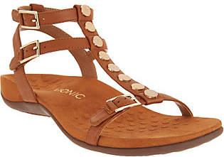 Vionic Leather Embellished Muilti-Strap Sandal- Hailey