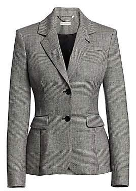 Altuzarra Women's Fenice Glen Check Stretch-Wool Blazer
