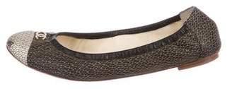 Chanel CC Cap-Toe Flats