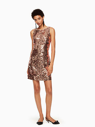 Kate Spade Sequin bow back dress