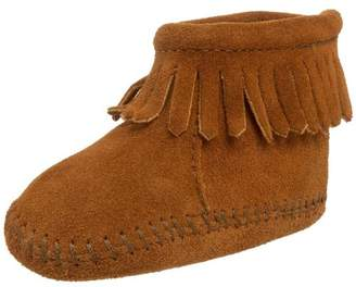 Minnetonka Velcro Back Flap Bootie, Unisex Baby Crawling Baby Shoes,3 Child UK (19 EU)