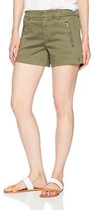 Level 99 Women's Brit Double Welt Zip Trouser Short
