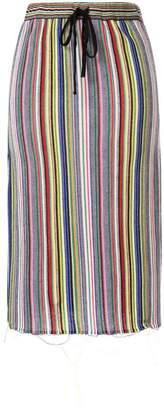 Marques Almeida Marques'Almeida striped drawstring skirt