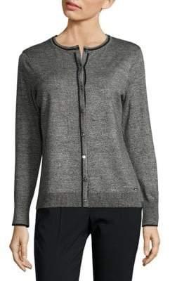 Calvin Klein Marled Button Cardigan