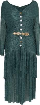 Peter Pilotto Metallic Jersey Portrait Midi Dress