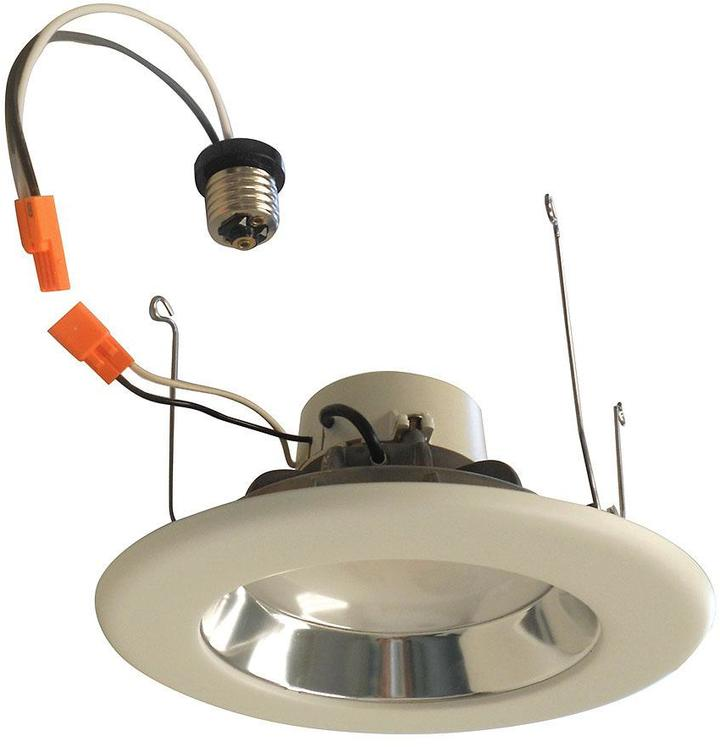 EnviroLite 6 in. Recessed LED Ceiling Light with Specular Clear Cone on White Trim Ring, 5000K, 96 CRI