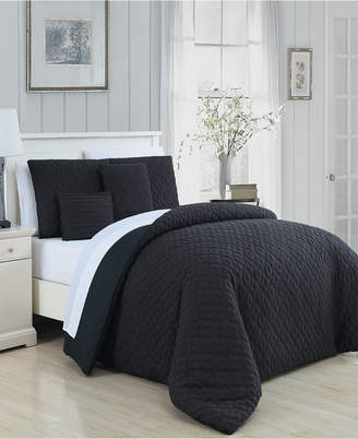 Geneva Home Fashion Minnie 9 Pc King Bed In A Bag Bedding