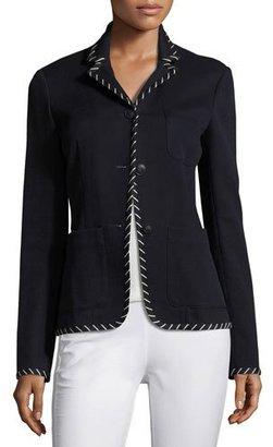 Rag & Bone Redgrave Whipstitch Three-Button Blazer, Navy $595 thestylecure.com