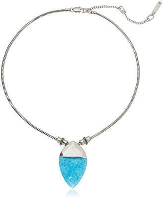 Kenneth Cole New York Quartz Geometric Stone Pendant Necklace