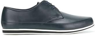 Prada striped sole boat shoes