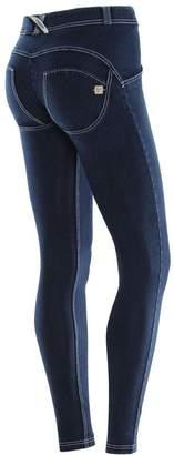 Freddy WR.UP® Denim Regular Rise Skinny - Dark Rinse + White Stitching (, XS)