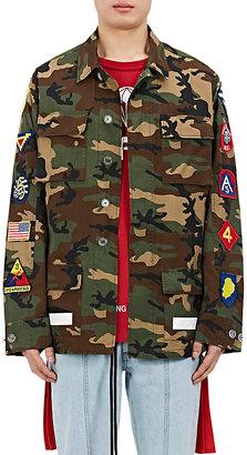 Off-White c/o Virgil Abloh Men's Embellished Camouflage Cotton Field Jacket $1,155 thestylecure.com
