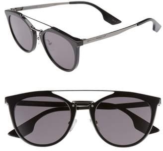 McQ 53mm Round Sunglasses