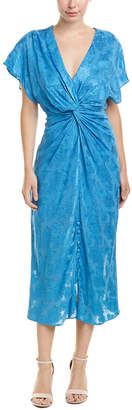Prabal Gurung Jacquard Silk-Lined Midi Dress