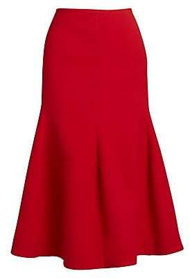 Victoria Beckham Women's Panelled Flare Midi Skirt