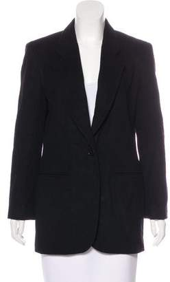 Henri Bendel Wool & Cashmere Button-Up Blazer