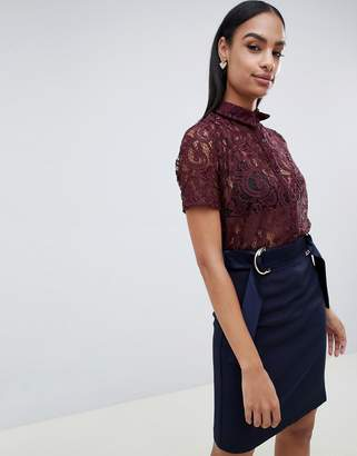Vesper lace short sleeve shirt