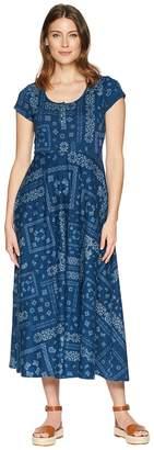 Chaps Short Sleeve Bandanna Cotton Jersey Maxi Dress Women's Dress