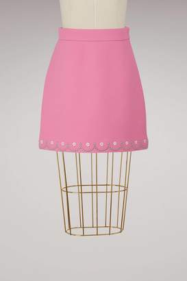 Miu Miu Embroidere wool skirt