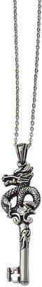 Dragon Optical FINE JEWELRY Mens Cubic Zirconia Stainless Steel Antique Pendant