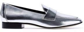 Diane von Furstenberg Metallic Leather Loafers