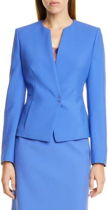 BOSS Jisula Collarless Ponte Suit Jacket