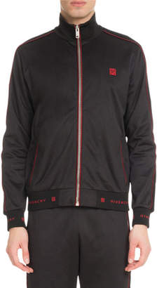 Givenchy Men's 4G Logo Track Jacket with Velvet Piping
