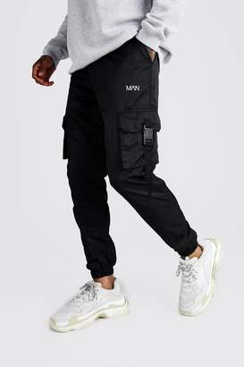 Official MAN Reflective Shell Buckle Joggers