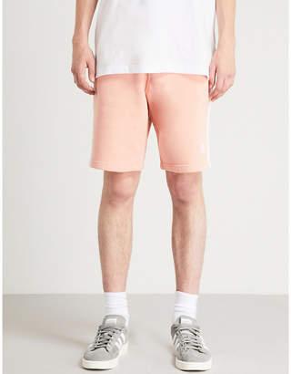 adidas Side-stripe cotton-jersey shorts