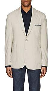 Piattelli MEN'S COTTON JERSEY TWO-BUTTON SPORTCOAT-BEIGE, TAN SIZE 44