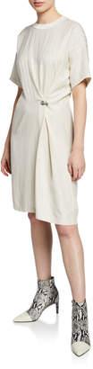 Rag & Bone MItchell Pinstripe Grommet Tee Dress