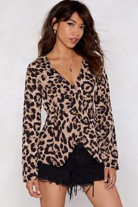 Nasty Gal All Together Meow Leopard Blouse
